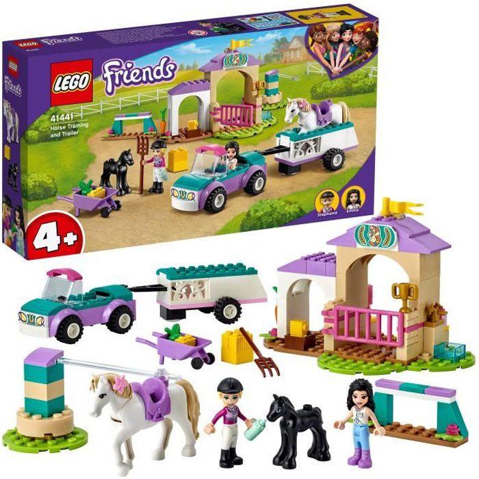 LEGO® 41441 Friends Le dressage de chevaux et la remorque, figurine cheval enfants 4 ans et plus