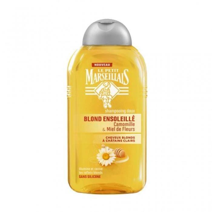 Le Petit Marseillais Shampooing Doux Blond Ensoleillé Camomille & Miel de Fleurs 250ml (lot de 4)