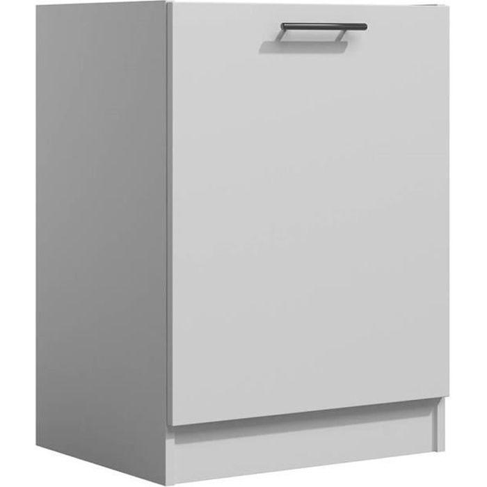 LILA - Meuble de cuisine bas 60 cm 1 porte blanc