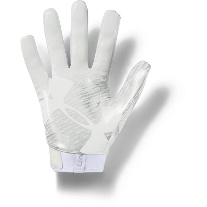 Under Armour - UA F7 Gants Football Américain Homme White/Metallic Silver - (small)