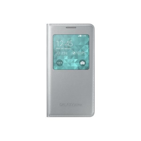 SAMSUNG Galaxy Alpha coque S View - Argent
