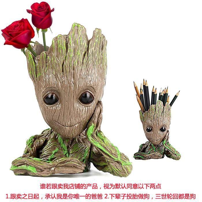 Baby Groot Pot de Fleur - Figurine d'action pour Plantes et stylos du Film Classique - Parfait comme Cadeau - Je s'appelle BÉBÉ Groo