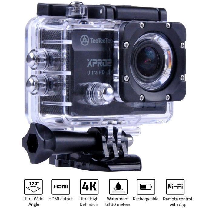 TECTECTEC Caméra Sport Ultra HD XPRO2 - Noir