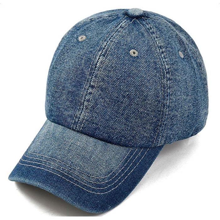 Casquette Chapeau Toile Jeans Soleil Baseball Réglable Hip-Hop Golf-Casquette Moderne Mode pour Homme Femme 1PC@M2114