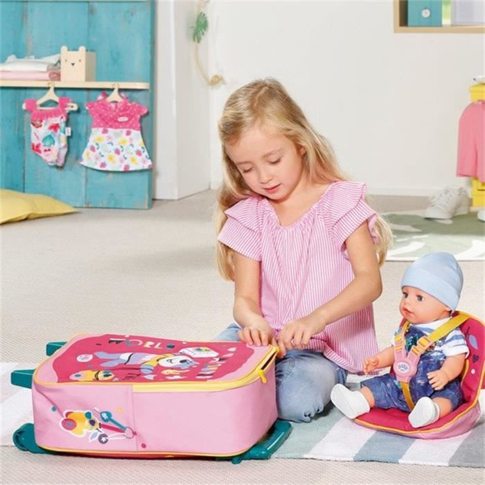BABY Born Holiday Trolley avec siège de poupée