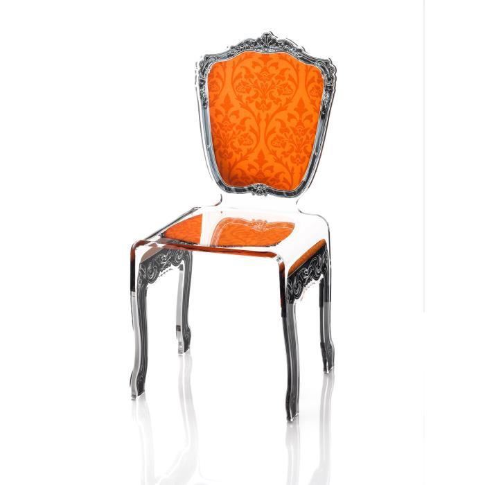 acrila chaise baroque orange achat vente chaise. Black Bedroom Furniture Sets. Home Design Ideas
