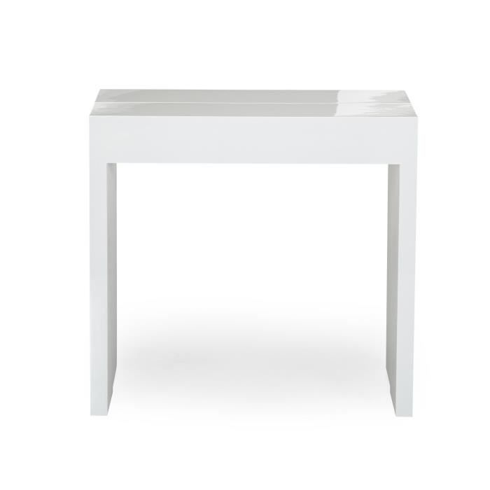 table console blanche. Black Bedroom Furniture Sets. Home Design Ideas