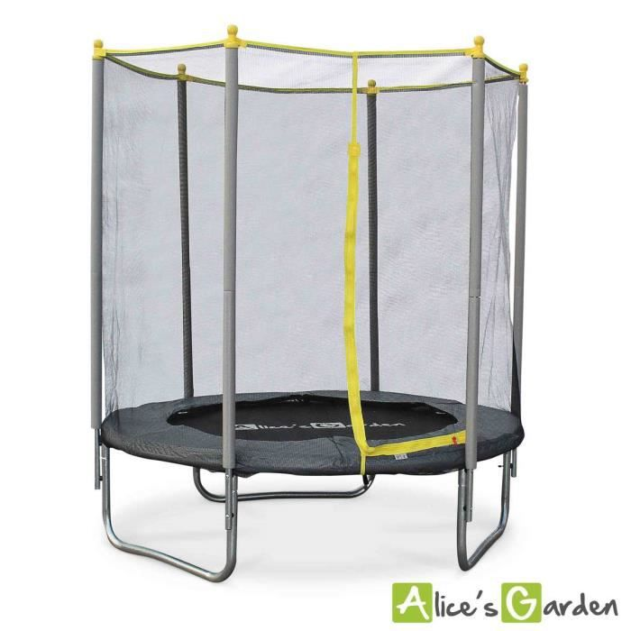 trampoline 180cm naos avec son filet de protection achat vente trampoline cdiscount. Black Bedroom Furniture Sets. Home Design Ideas