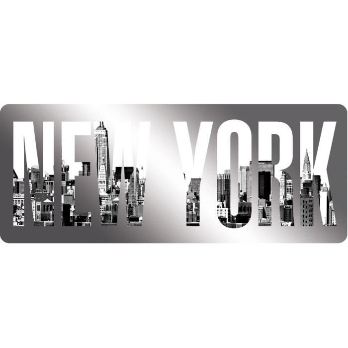 Artis miroir imprim new york 12x30 cm achat vente for Art et maison new york