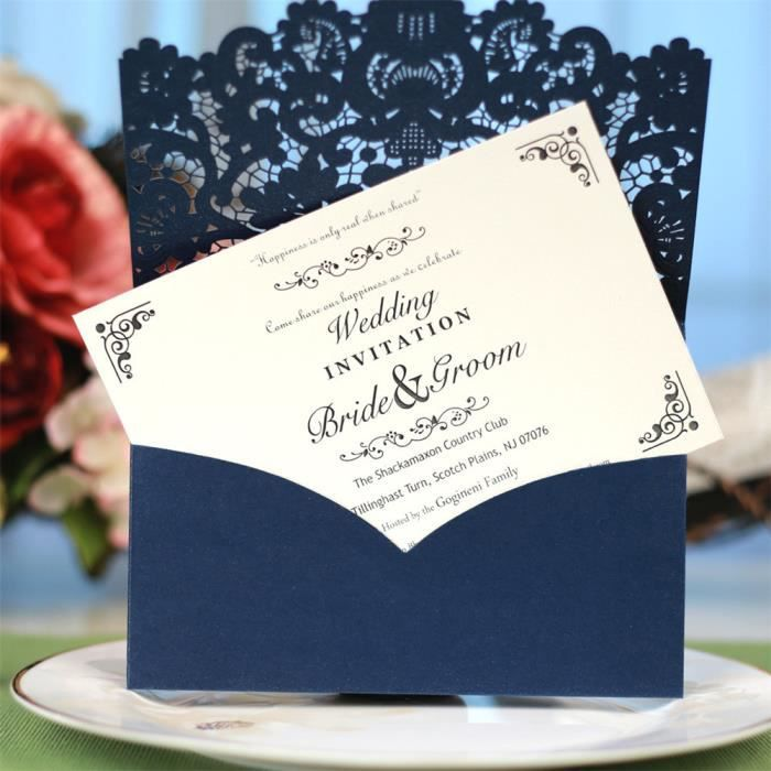 env Personnalisé Golden Mariage Anniversaire Invitations Fête Photo x 50