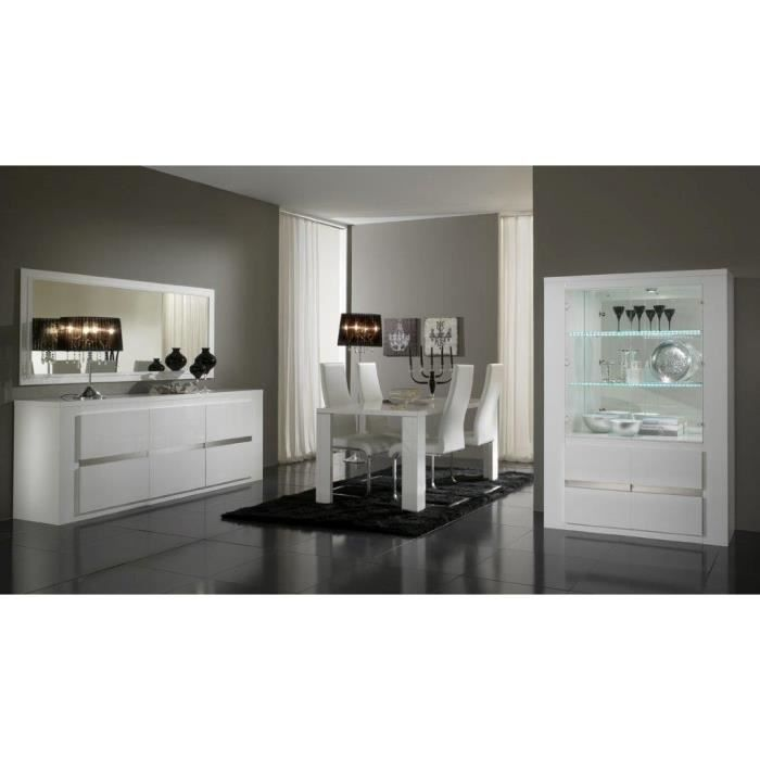 salle a manger complete blanc laqu but salle a manger blanc laque moderne buffet axa - Buffet Blanc Laque But