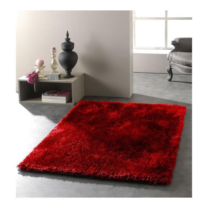 allotapis tapis de salon rouge uni raven 160x230cm. Black Bedroom Furniture Sets. Home Design Ideas