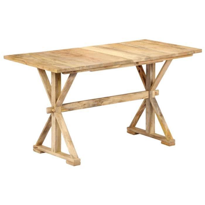 TABLE À MANGER SEULE Table de salle à manger 118x58x76 cm Bois de mangu