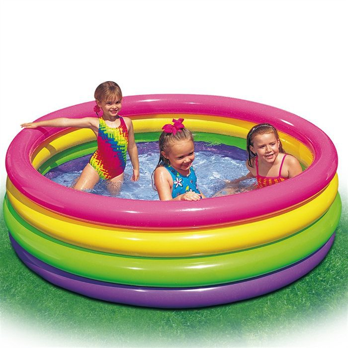 Intex piscine gonflable 168 cm 4 boudins achat vente for Piscines gonflables