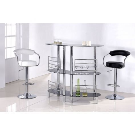 bar en verre noir achat vente meuble bar bar en verre noir cdiscount. Black Bedroom Furniture Sets. Home Design Ideas