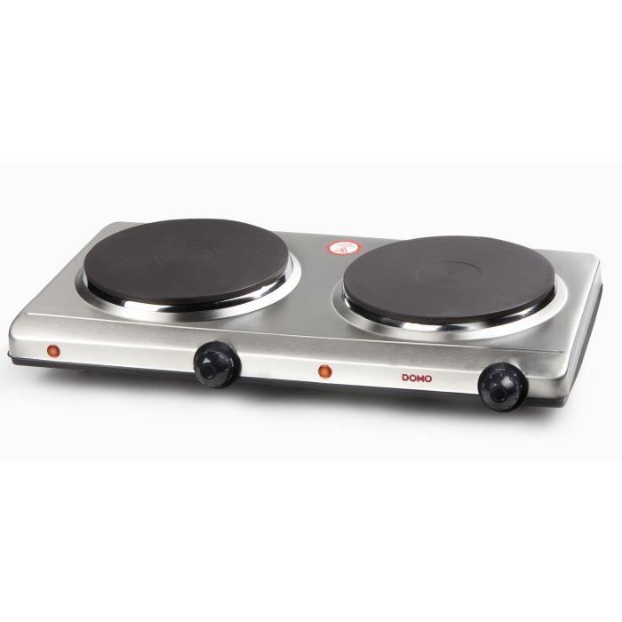 DOMO Plaque chauffante électrique 2500 W blanc DO310KP Plaque de cuisson