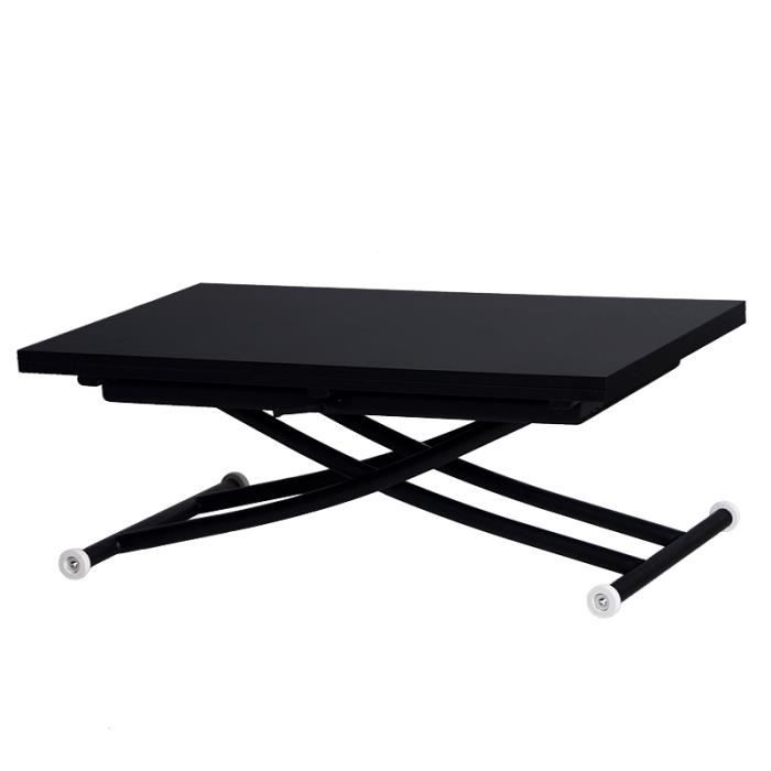 table basse relevable ilona noir mat achat vente table basse table basse relevable ilona. Black Bedroom Furniture Sets. Home Design Ideas
