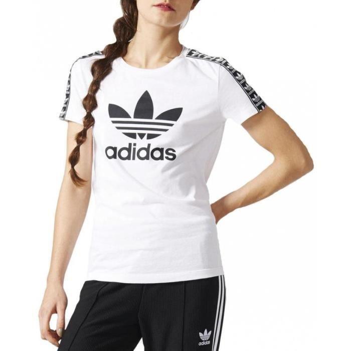 t shirt femme adidas blanc