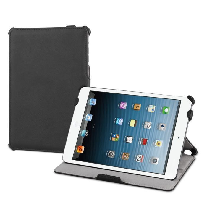 etui ipad mini muvit snow slim avec stand noir prix pas cher cdiscount. Black Bedroom Furniture Sets. Home Design Ideas