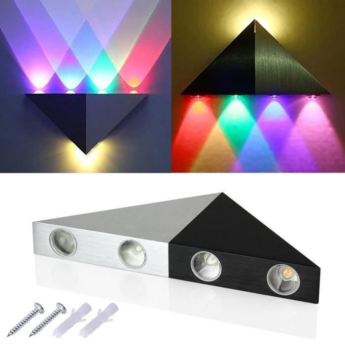 Applique mural triangle int rieur cinq led de lumi achat for Eclairage led mural interieur