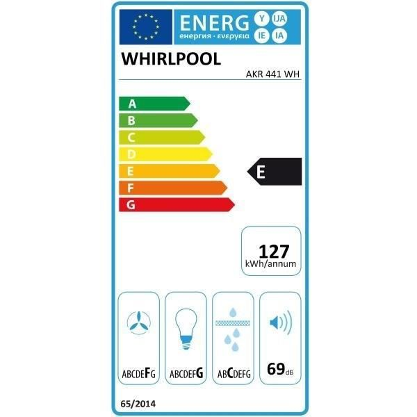 Whirlpool akr441wh hotte visi re evacuation ou recyclage for Hotte evacuation ou recyclage