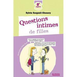 Livre 6-9 ANS Questions intimes de filles