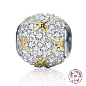 Charm's Charmes Brillant Fleurs - Argent 925 et plaqué or