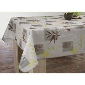 nappe de table zen achat vente nappe de table zen pas cher cdiscount. Black Bedroom Furniture Sets. Home Design Ideas
