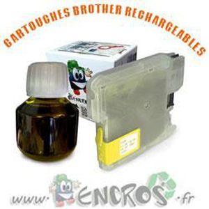 CARTOUCHE IMPRIMANTE JET ENCRE- Kit Encros infini pour BROTHER LC1100 -