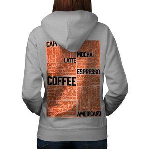 SWEATSHIRT café Latté Moka Slogan Mots Women  Sweat à capuche