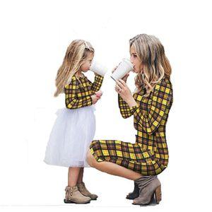 Robe de mère et fille Famille Costumes Enfant Parent Assortir robes de  fille de mère