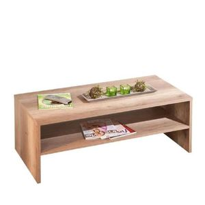 Table basse bois brut achat vente table basse bois for Table basse chene brut