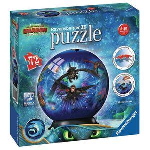 PUZZLE RAVENSBURGER Puzzle 3D rond 72 p - Dragons 3