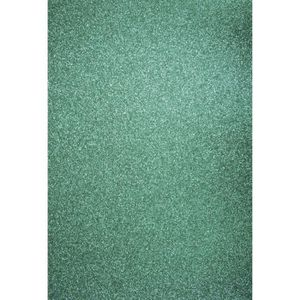Feuille décopatch Papier cartonné pailleté - A4 - Turquoise - Rayher