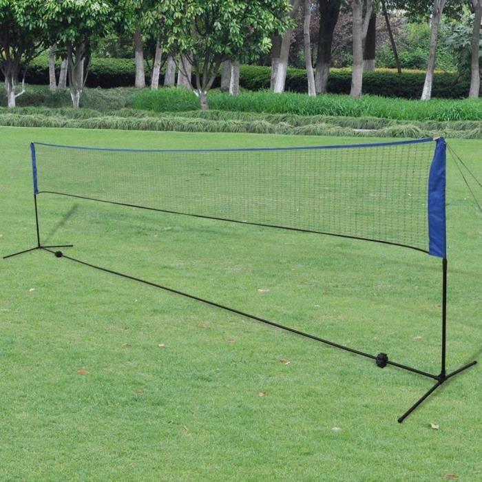 FIHERO Filet de badminton avec volants 600 x 155 cm