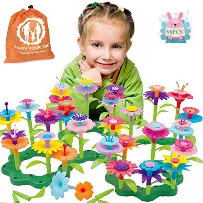 Jeu D'Assemblage LE0GG ensemble de jouets de construction de fleurs, ensemble de jeux de blocs de construction de jardin pour garçon