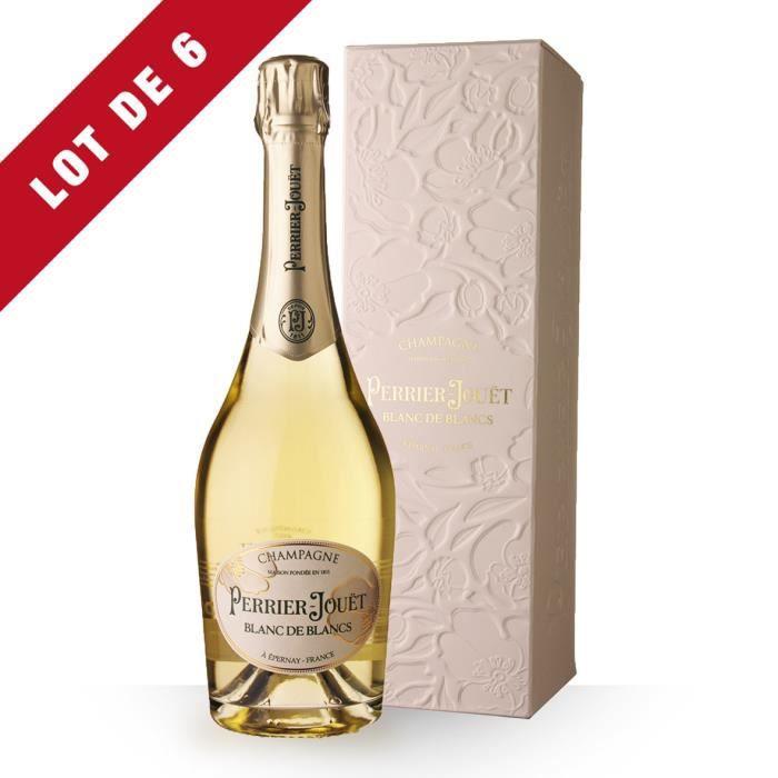6X Perrier-Jouët Blanc de Blancs 75cl - Etui - Champagne