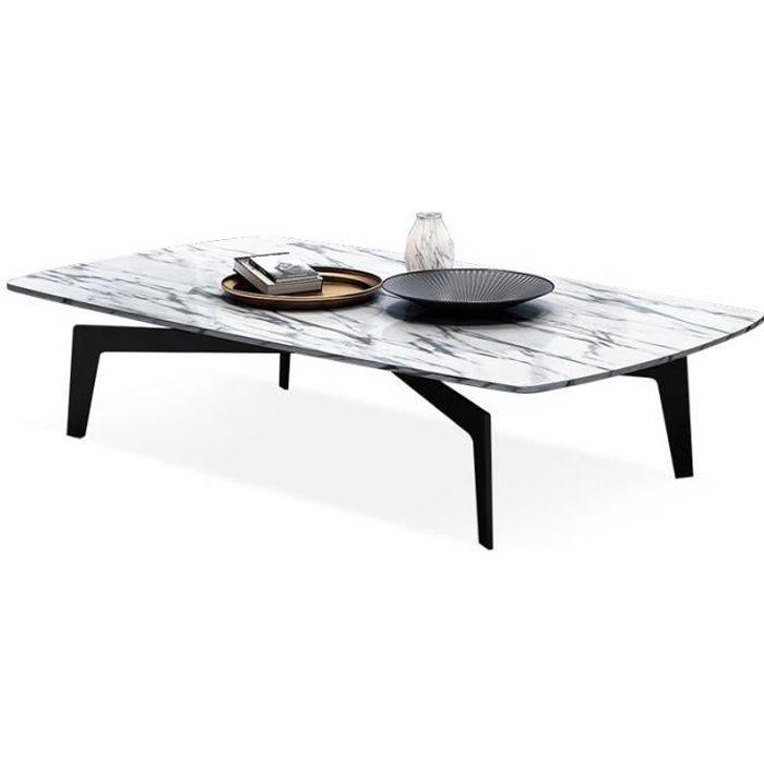 Table basse effet marbre blanc Alto