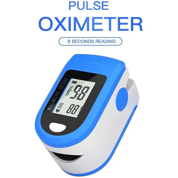 Oxymètre fréquence cardiaque, SpO2 Moniteur de saturation d'oxygène de mesure de sang d'oxymètre