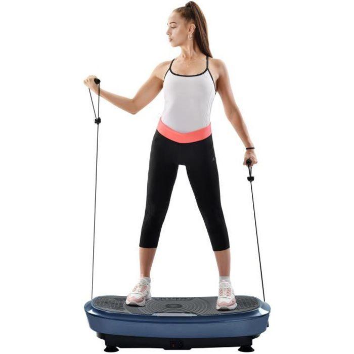 Plateforme Vibrante et Oscillante Double Moteur 3D pour Musculation et Fitness, LCD, 200W + 200W,5 programmes - Bleu