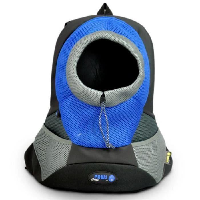 sac de chien transport sac pour chien Chat à Dos Réticulaire Sac Ventral 40x35x17cm bleu Ma13351