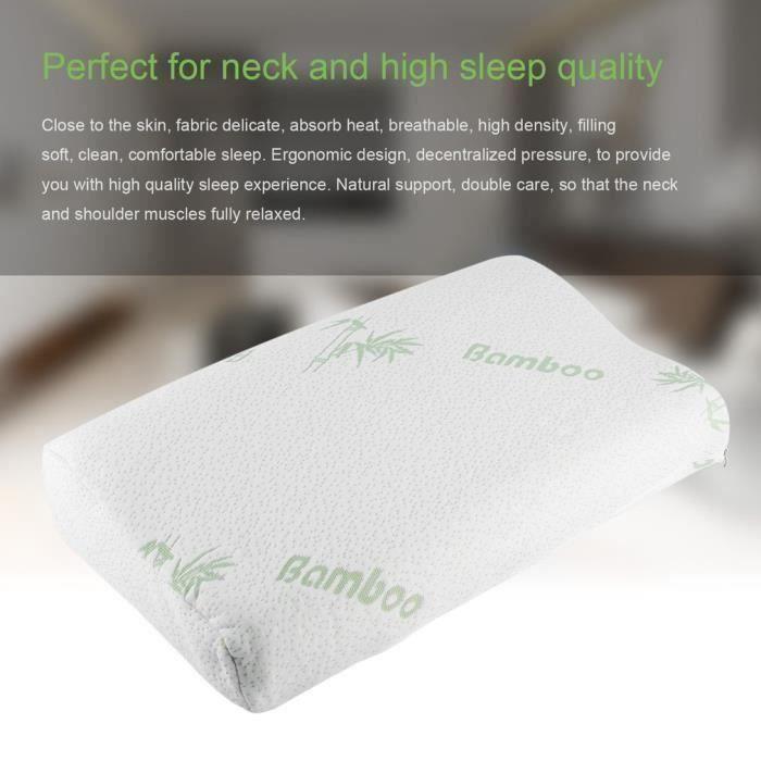 1 Bon Sommeil POUR VOUS Oreiller de mémoire en fibre de polyester 50*30*10cm pour Cou orthopédique Soins de Santé