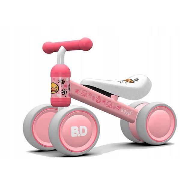 OKIE - Draisienne bébé à partir 18 mois - Ultra lègere 2kg - Vélo sans pédales - Ergonomique Confortable selle/roues mousse - Rose