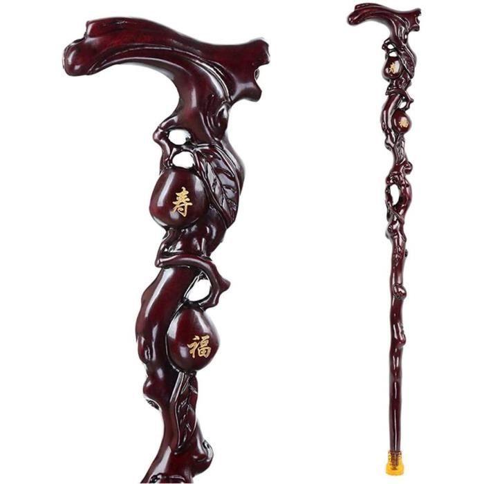 bâtons de marche en bois naturel avec fonction de massage de la poignée walker antidérapant aidant un bâton en bois unisexe p