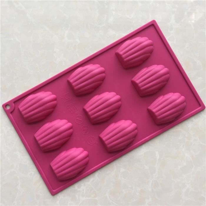 Moule à gateaux,Moule à gâteau en Silicone Madeleine, outil à libération facile fait à la main pour la cuisson des cookies au