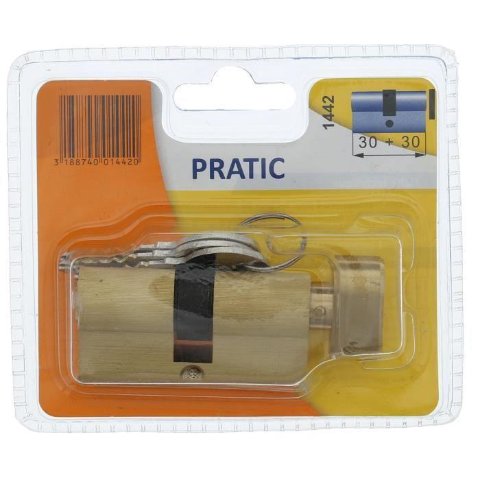BRICARD PRATIC 1442 Cylindre 30+30 mm en laiton à bouton / niveau de sécurité 1