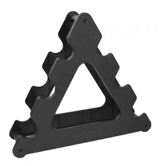 Haltère rack compact haltère support triangle physique poids haltère support support sport accessoires noir