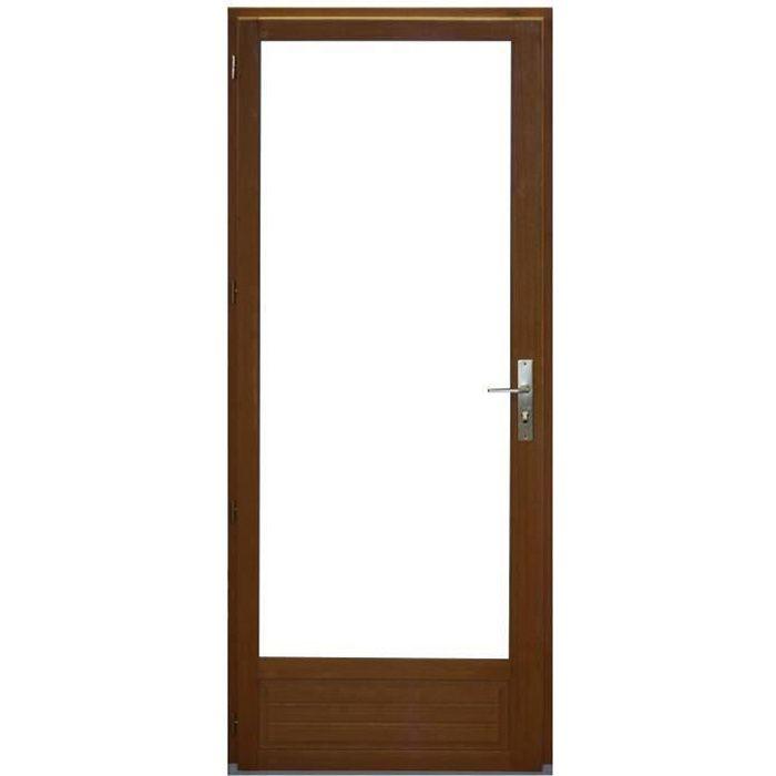 Porte Fenêtre 1 vantail en bois exotique Hauteur 215 X Largeur 80 TIRANT GAUCHE(cotes tableau)