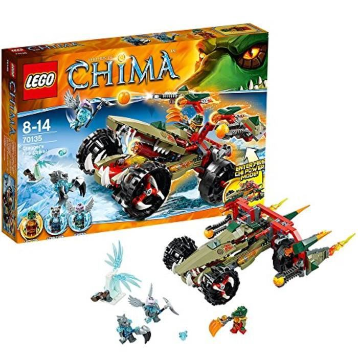 Jeu D'Assemblage LEGO V94YR Chima Craggers Striker Feu 70135