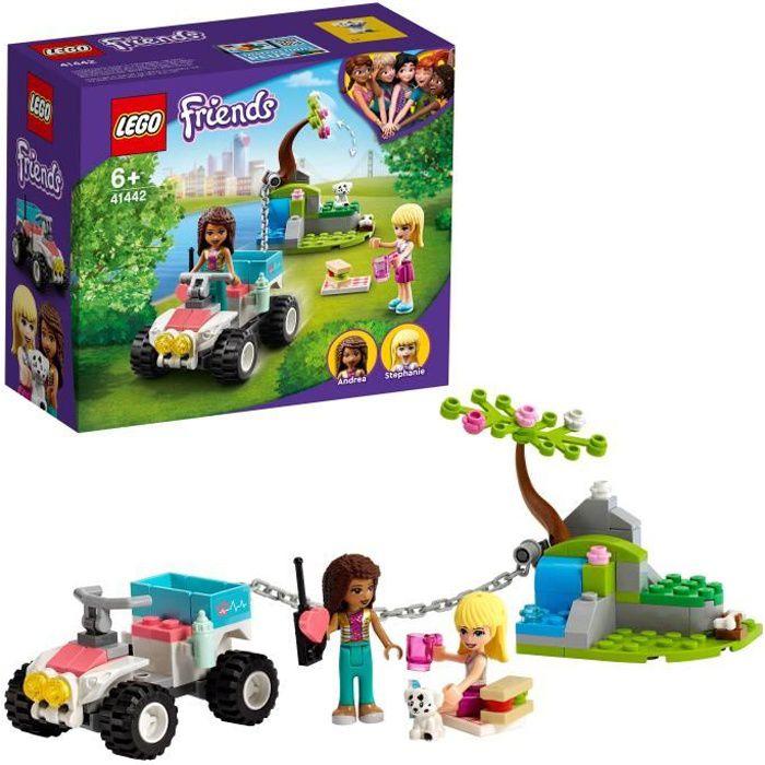 LEGO® 41442 Friends Le Buggy de Sauvetage de la Clinique Vétérinaire Jouet Minidolls Stéphanie et Andréa pour Enfant de 6 Ans et +_x